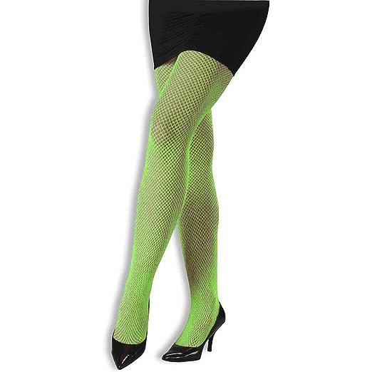 Green fishnet pantyhose
