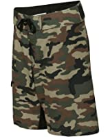 Burnside - Camo-Diamond Dobby Board Shorts + Cinch Travel Bag