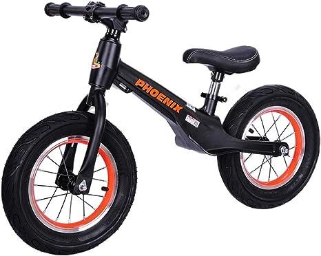AIDELAI Bicicleta para niños pequeños, Bicicleta de Equilibrio de Aluminio para niños y niños pequeños - Bicicleta de Entrenamiento sin Pedales para niños pequeños (Color : Black): Amazon.es: Deportes y aire libre