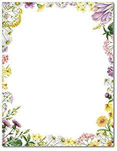 Flower Meadows Stationery Paper - 80 Sheets