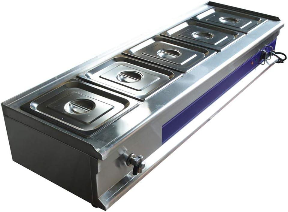 5-Pan Bain-Marie Buffet Food Warmer Restaurant Kitchen Equipment