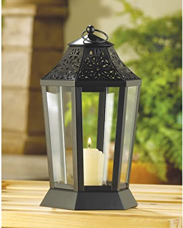 Portavelas vela de faroles de jardín de hojas Patio porche Patio Decor pantalla Home mesa de brillo de luz: Amazon.es: Hogar