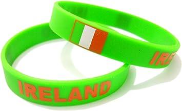 AccessCube Unisex País Bandera Nacional de Silicona Pulsera de Goma de Moda Pulsera Brazalete (Irlanda): Amazon.es: Deportes y aire libre
