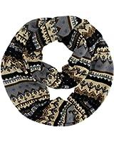 Luxury Divas Multicolor Winter Holiday Pattern Circle Infinity Scarf