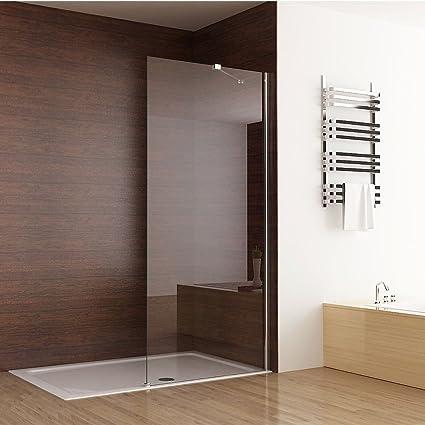 Seesuu Frameless Shower Door Fixed Glass Bathtub Shower Screen Panel ...