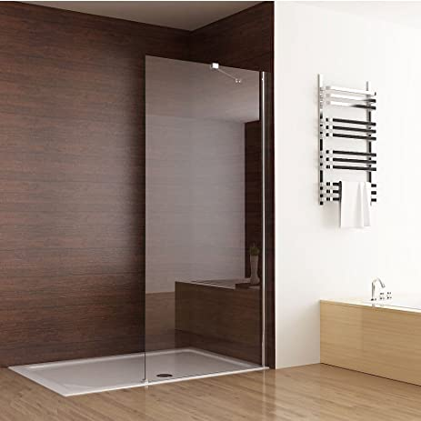 Seesuu Frameless Shower Door Fixed Glass Bathtub Shower Screen Panel Walk  In Shower Enclosure Clear Glass