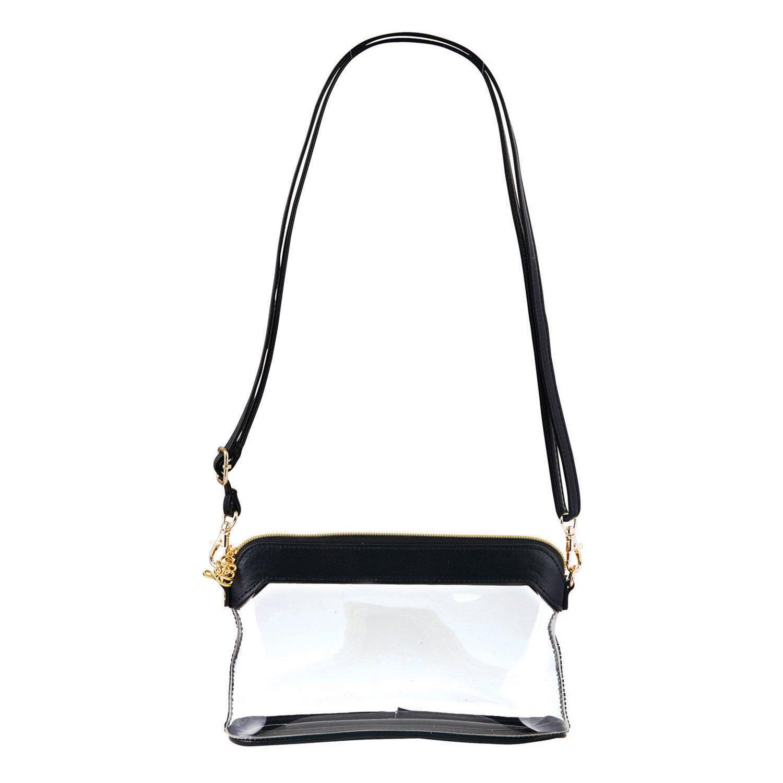 SB Design Studio Hold Everything Stadium Bag, 6.25 x 4.75 x 2, Clear/Black