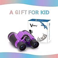 Vanstarry Kids Binoculars, 5X30 Optical Lens - Compact High Resolution Kids Binoculars for Kids Camping, Hiking, Bird…
