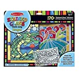 Melissa & Doug Stained Glass Made Easy Activity Kit, Dragon (Arts and Crafts, Develops Problem Solving Skills, 170+ Stickers)
