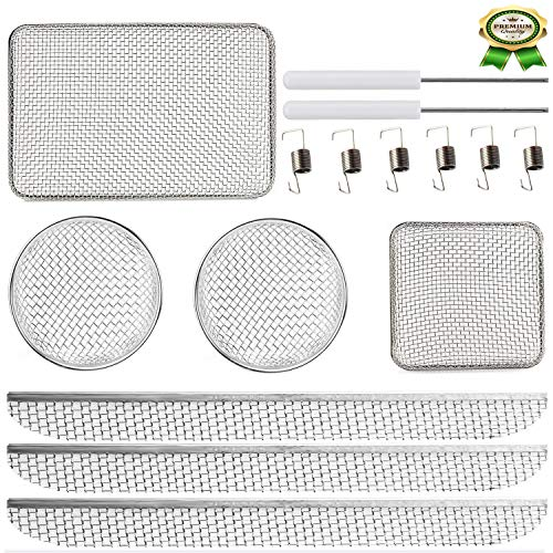 Wadoy RV Furnaces Bug Screen, Heavy Stainless Steel Mesh Flying Insect Screen with Installation Tool,20