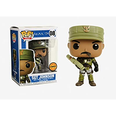 "Funko POP! Halo Sgt Johnson 3.75"" CHASE VARIANT Vinyl Figure: Toys & Games"