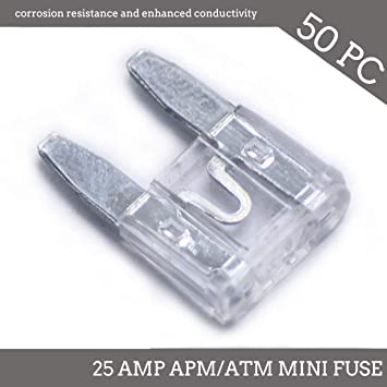 25 Pack 30A Mini Blade Style Fuses APM//ATM 32V Short Circuit Protection Car Fuse