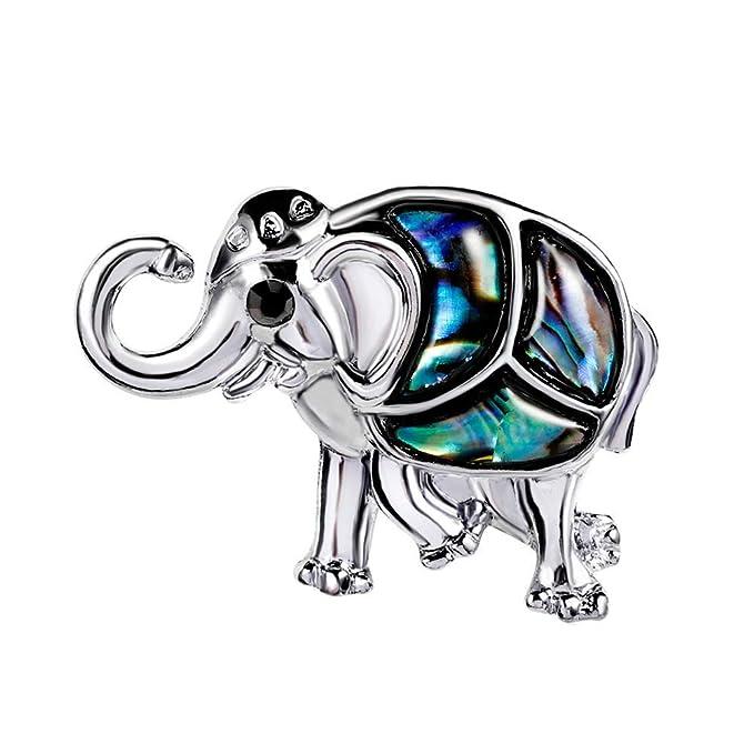 Ogquaton Broches 1 Unids Moda Unisex Elefante Broc...