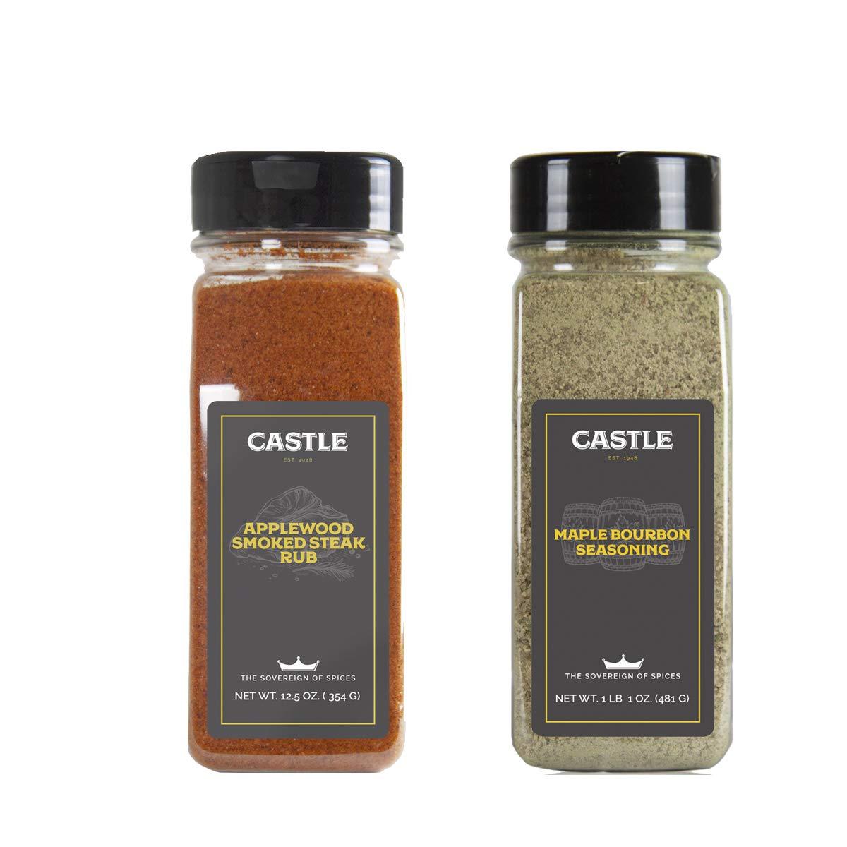 Castle Foods Maple Bourbon and Apple-Wood Smoke Seasoning Bundle