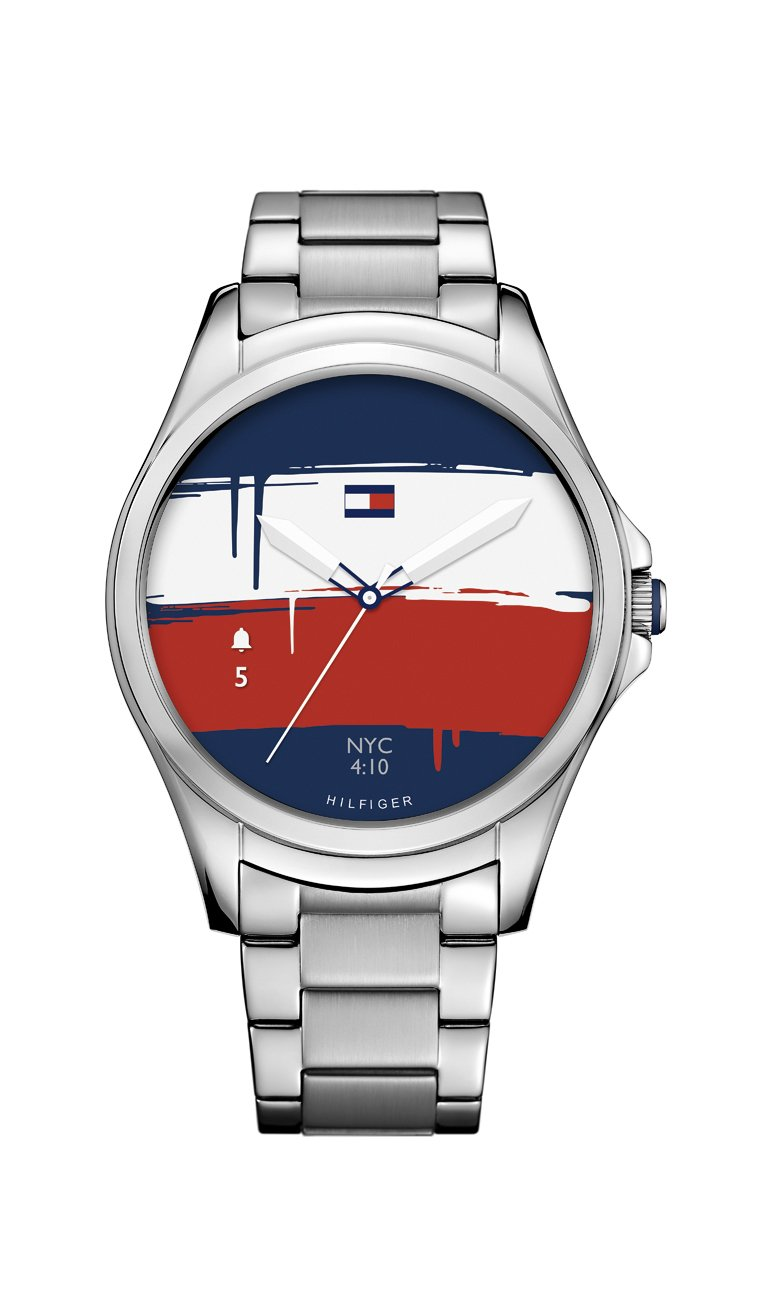 Tommy Hilfiger 'Smartwatch' Quartz Stainless Steel Casual Watch, Color:Silver-Toned (Model: 1791405)