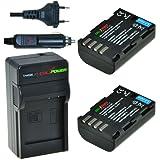 ChiliPower Panasonic DMW-BLF19, DMW-BLF19E Kit: 2x Batterie (1950mAh) + Chargeur pour Panasonic Lumix DMC-GH3, DMC-GH4