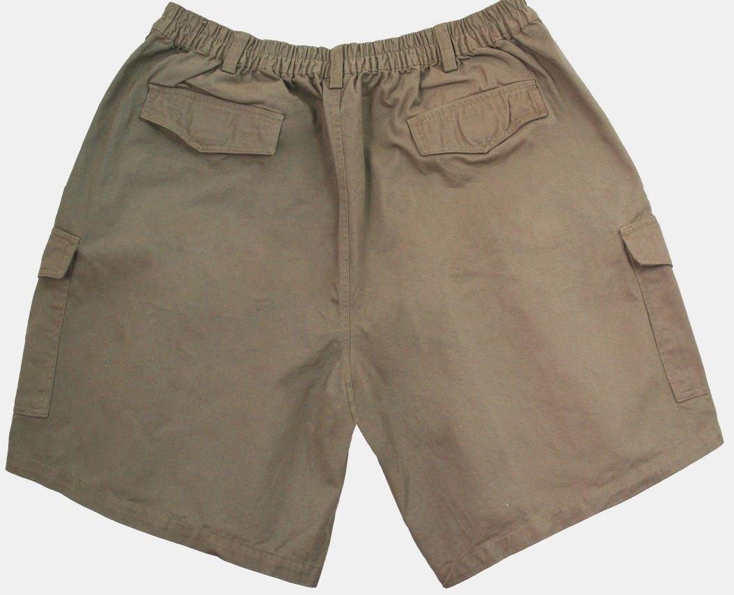 Falcon Bay Big and Tall Men's Expandable Waist Cargo Shorts (2XL, Khaki)