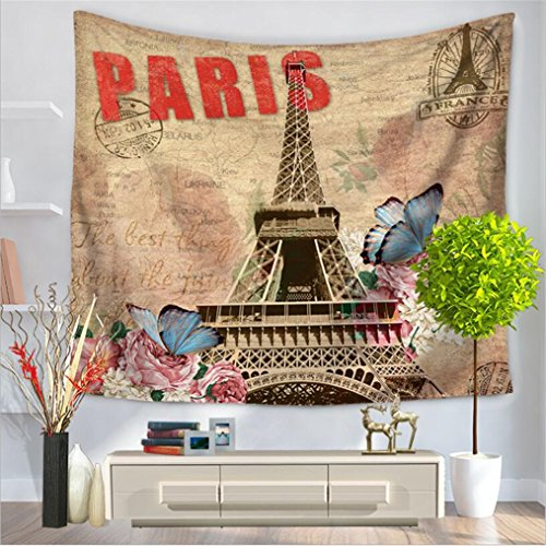 Wall Tapestry Wall Hanging Paris Eiffel Tower Decor Tapestry