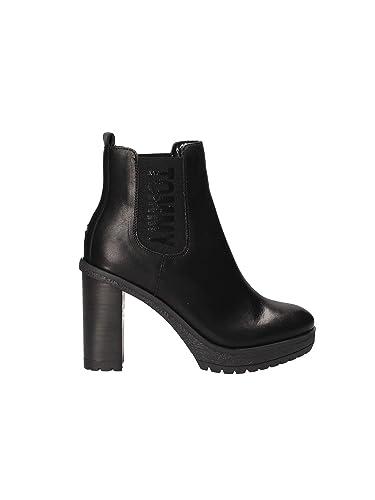 5e46a16f42a938 Tommy Hilfiger Damen Stiefeletten Essential Heeled Chelsea Boot EN0EN00244-990  schwarz 549235