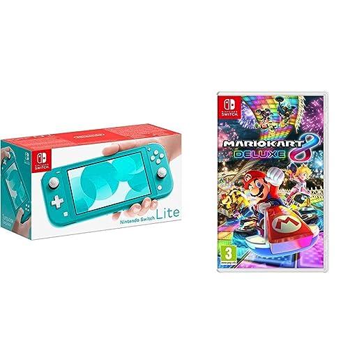 Nintendo Switch Lite Turquoise Mario Kart 8 Deluxe
