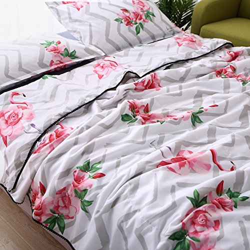 KFZ Summer Cool Quilt (Teens Twin Full Queen size) Comforter for Bed Set No Pillow Cover Sheets ZL Cartoon Animals Bear Elephant Bulldog Design For Kids Adults (Red Firebirds,Grey, (Care Bears Quilt Squares)