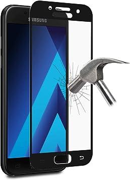 Puro Marco Vidrio Templado para Samsung Galaxy A3 – Negro: Amazon.es: Electrónica