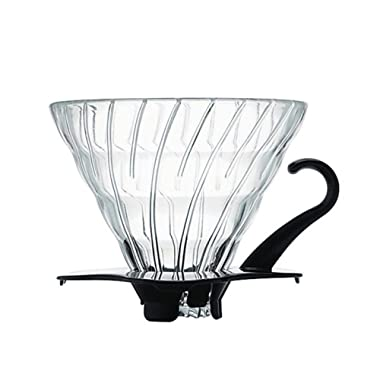 Hario V60 Glass VDG-02B Coffee Dripper, Size 02, Black