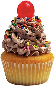 """Paper House Productions 3.5"""" x 2"""" Die-Cut Chocolate Frosting Cupcake Shaped Magnet for Refrigerators and Lockers"""