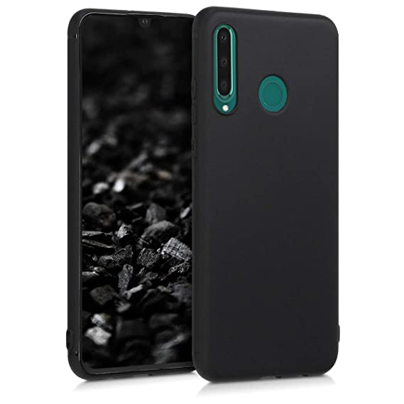 kwmobile TPU Silicone Case for Huawei P30 Lite - Soft Flexible Shock Absorbent Protective Phone Cover - Black Matte