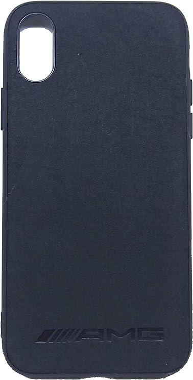 SMD Coque en Alcantara Compatible avec AMG, Coque de Portable pour iPhone X iPhone XS