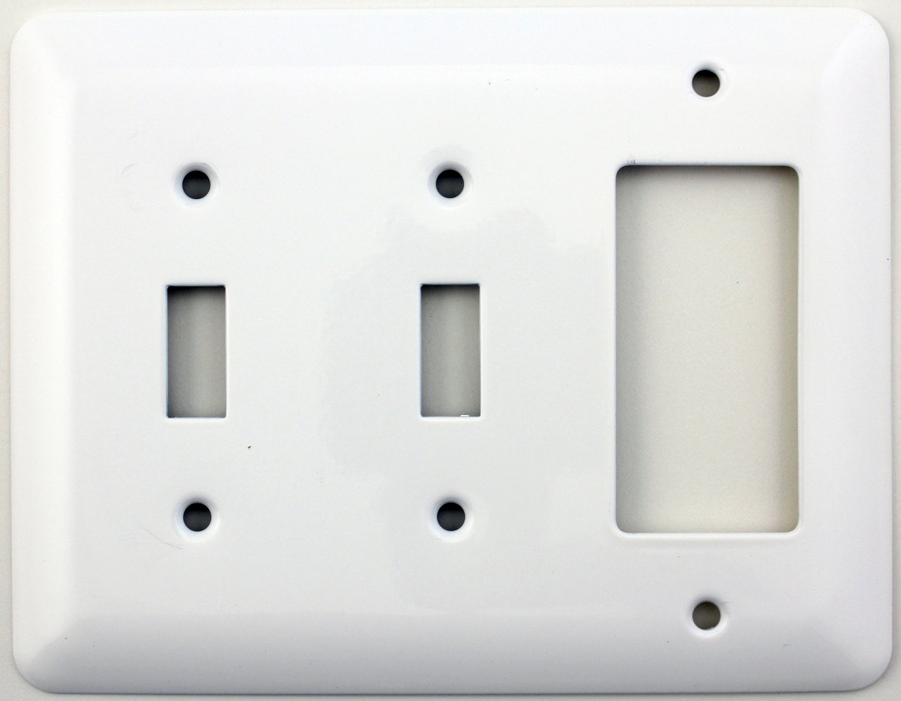 Mulberry Princess Style White Three Gang Combination Switch Plate ...