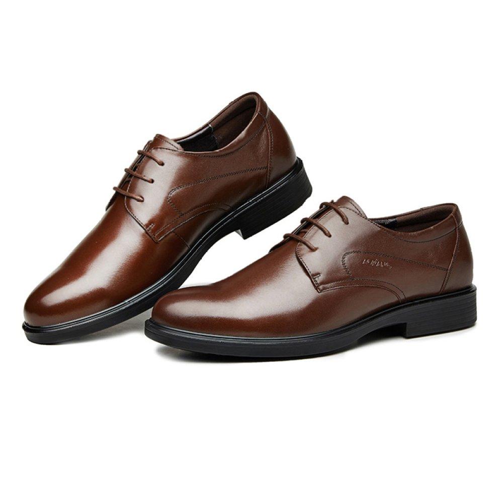 Männer Formelle Derby Business Casual Spitz Lace Up Schuhe Leder Spitz Casual Braun Brogues Hochzeit Uniform Schuhe Braun 0f6d87