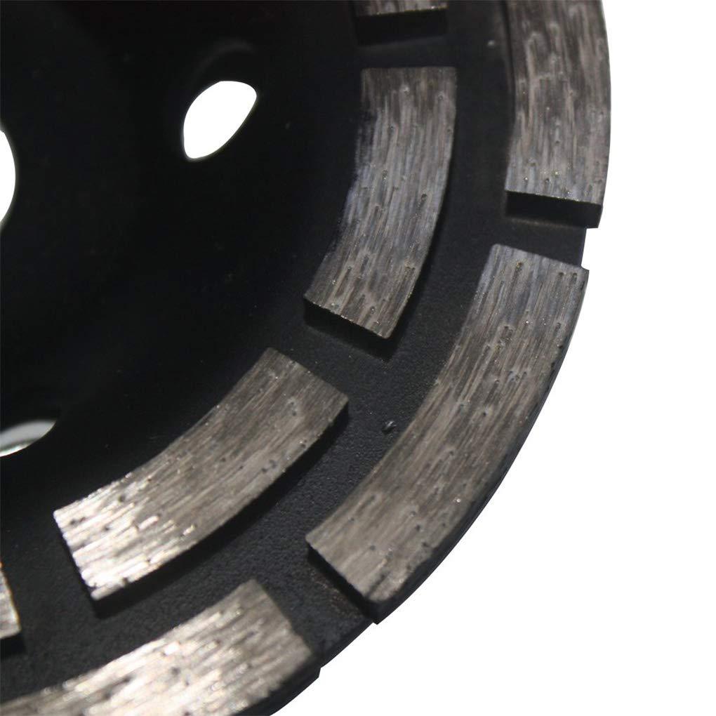 Flushzing 125mm zweireihig Grinding-Schalen-Rad Ersatz f/ür Beton Granit und Hartstoff Schleifscheibe Bore