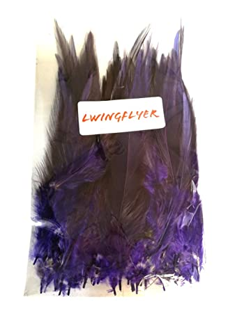 Yellow 100pcs Saddle Feathers Hackle Rooster Feathers Dyed Neck Feathers for Craft DIY Pendant Earrings Jewelry Costume Dream Catcher 5-6 Inch