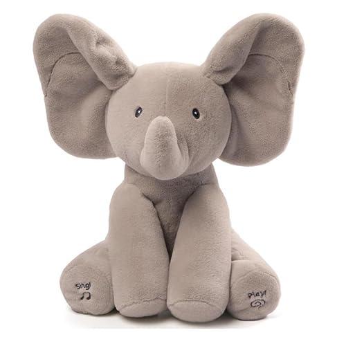 Gund Elmer Elephant Jouets d'Eveil-Peluche Animée Qui Bouge Ses Oreilles, 4053934FR