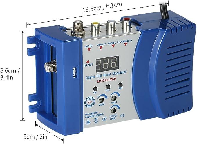 Kkmoon Kompakter Hf Modulator Audio Video Tv Konverter Rhf Uhf Signalverst Rker Ac230v Baumarkt