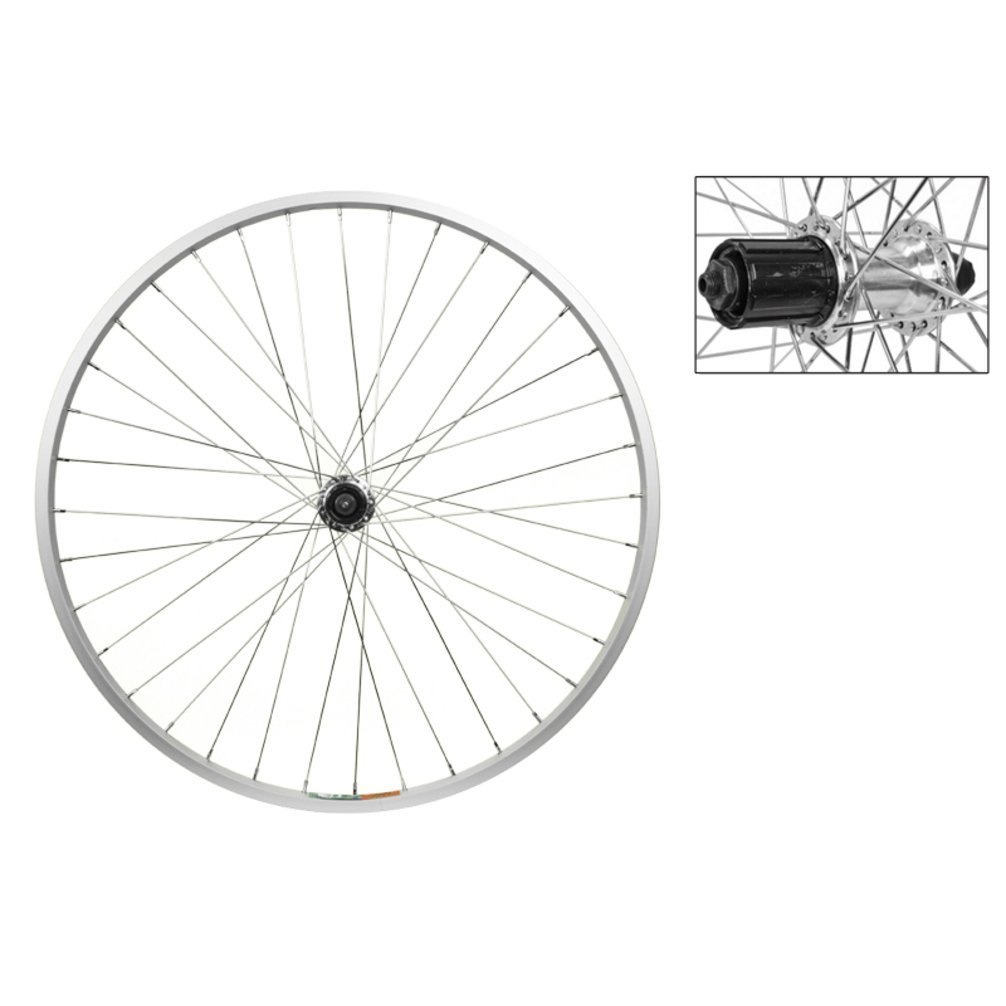 Wheel Master Rear Bicycle Wheel 26 x 1.5 36H, Alloy, Quick Release, Silver, 8/9 Speed Cassette
