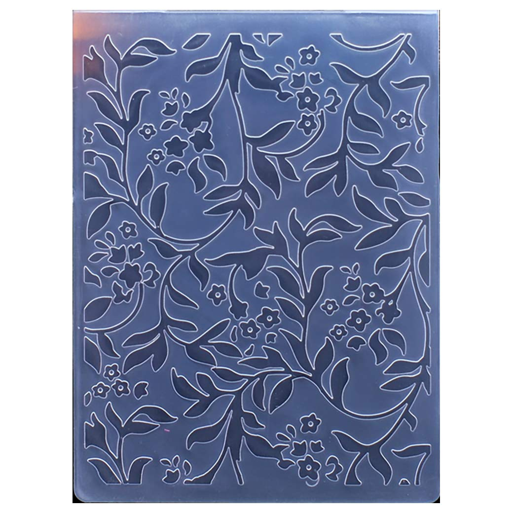 10.5x14.5cm Kwan Crafts Leaves Flower Plastic Embossing Folders for Card Making Scrapbooking and Other Paper Crafts