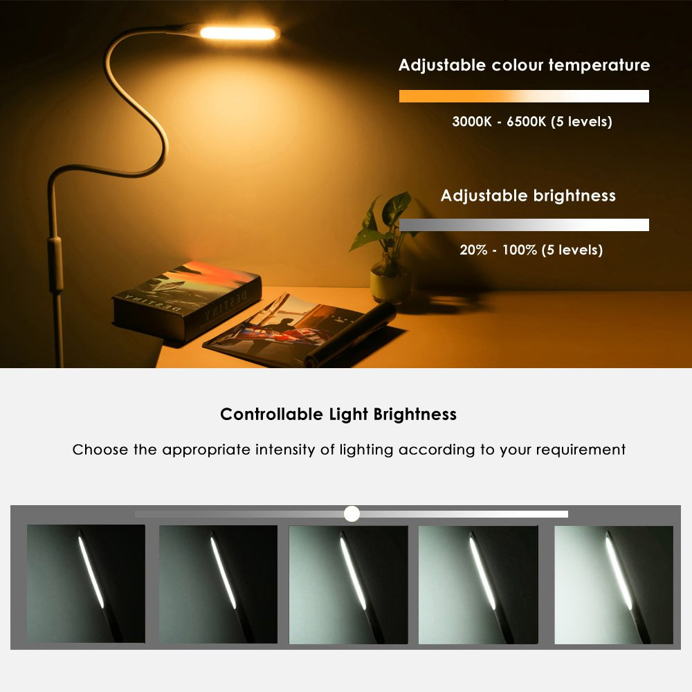 LED Floor Lamp, NACATIN Reading Lamps with 25 Styles of Lighting, Time Function, Touch & Remote Control Lamps LED for Living Room, Bedroom, Office, 9W, White by NACATIN (Image #3)