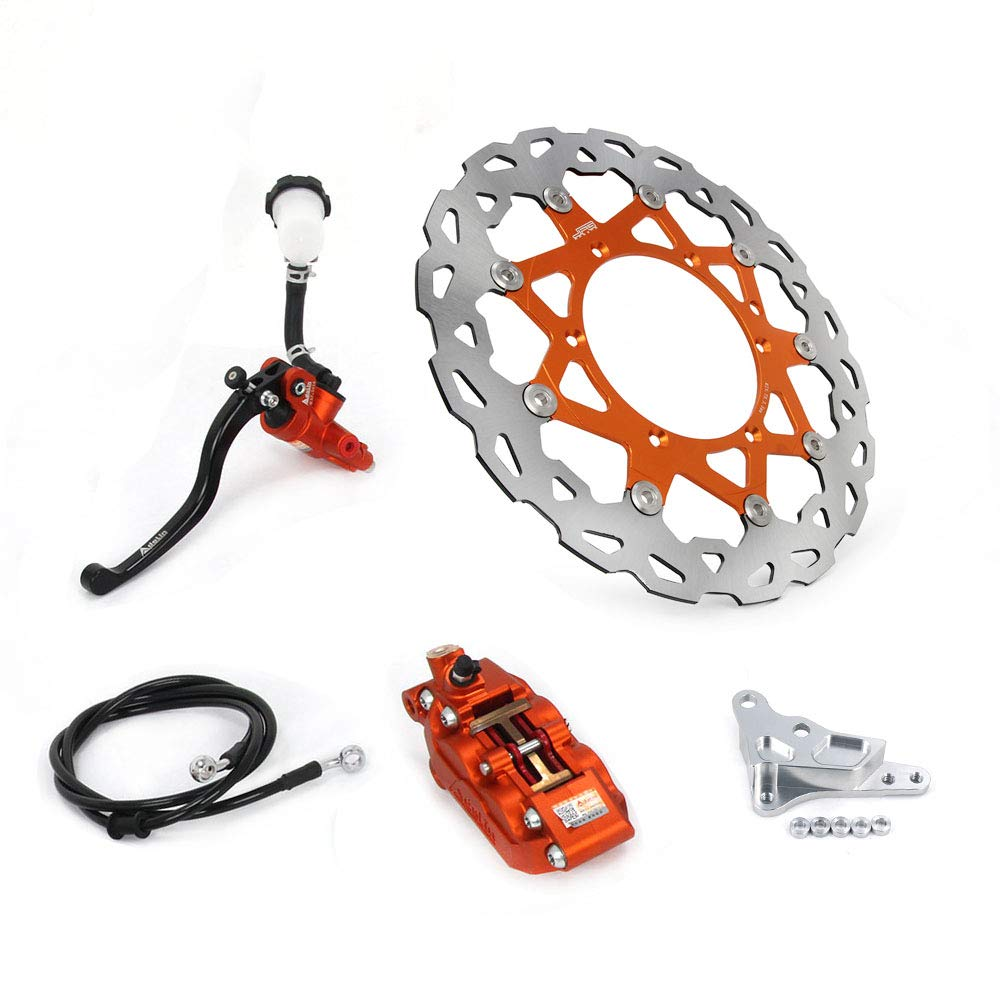 Complete Front Brake System Fit For KTM 125-530 SX SXF XC XCW XCF XCFW EXC 4 Pot HF6 Brembo Caliper Supermoto