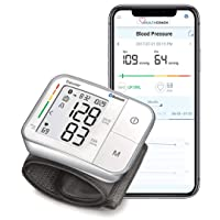 Beurer Bluetooth Smart, Wireless & Automatic Wrist Blood Pressure Monitor with Large LCD Display, Irregular Heartbeat Detection, Multi-Users, Syncs Readings to HealthCoach App, 60 Memory Spaces, BC57