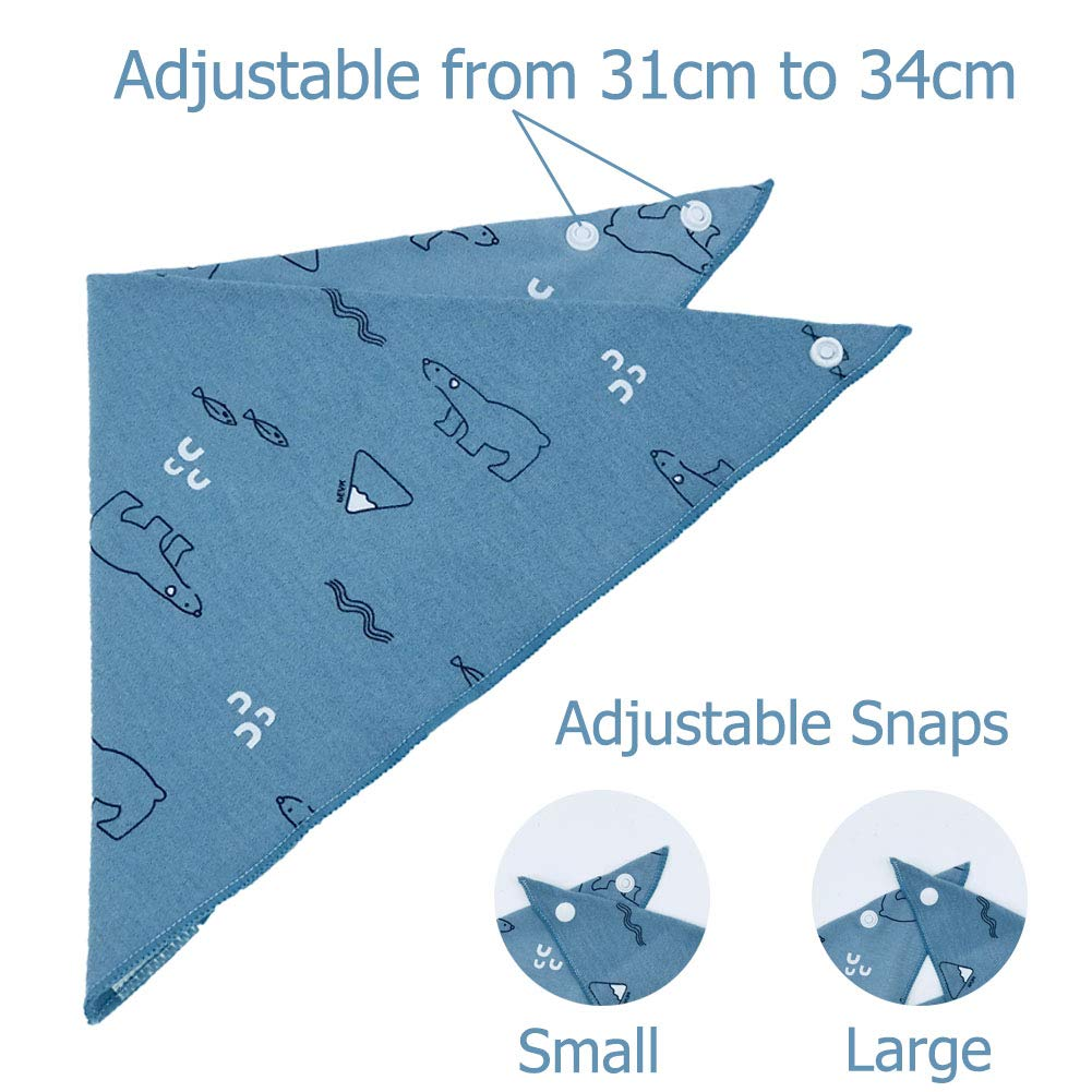 Farbe-01, 9 Packs Viedouce Baby Dreieckstuch L/ätzchen mit 2 Verstellbares Druckknopf,100/% Bio-Baumwolle,Weiche /& Absorbierende,Baby Halst/ücher Drool L/ätzchen f/ür Jungen M/ädchen