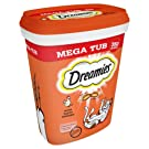 Dreamies Cat Treats, Mega Pack with Chicken, 2 Tubs (2 x 350 g)