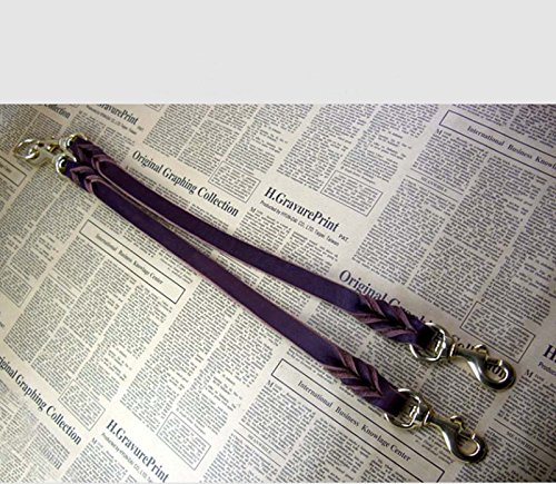 OCSOSO Dual Double Dog Leash No-Tangle Geniue Leather Braided Lead for Two Medium Large Dogs (M) by OCSOSO (Image #4)