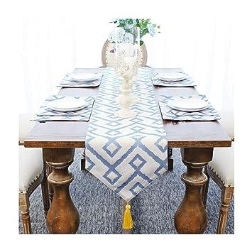 Amazon.com: Camino de mesa nórdico moderno patrón geométrico ...