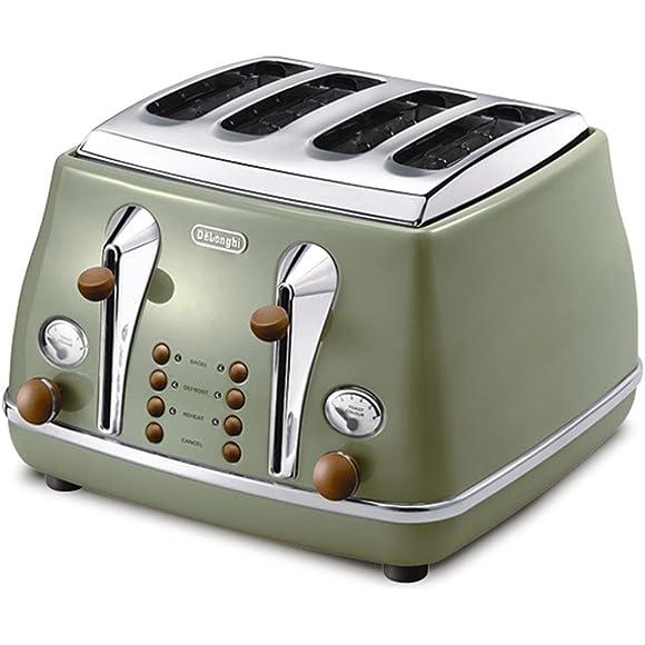 Delonghi Vintage Icona Olive Green 4 Slice Toaster