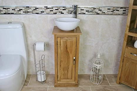 Fabulous Solid Oak Bathroom Vanity Furniture Bathroom Basin Cabinet Home Remodeling Inspirations Genioncuboardxyz