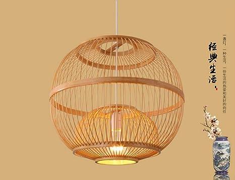 Lampadario di bambù classico minimalista illuminazione lampada