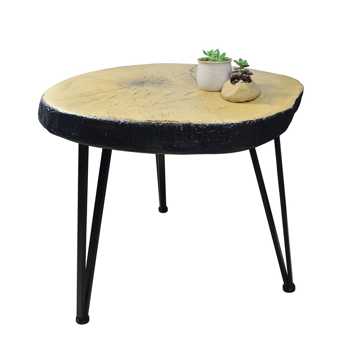 Suneon End Tables, Imitation Wood(Magnesium Oxide) Coffee Side Table for Living Room,Bedroom,Balcony,Garden and Office by SUNEON (Image #4)