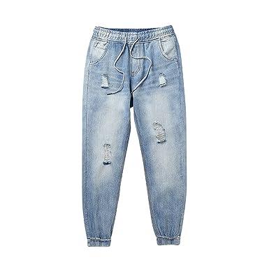 ce1887622 ZKOOO Jeans pour Homme Taille Elastique Harlan Pantalons Lâche ...